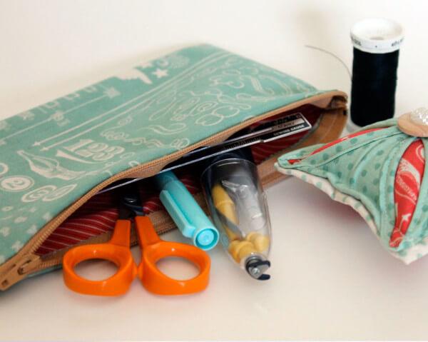 Handmade-Pincushion-and-Zipper-Pouch