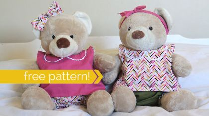 Teddy Bear Top & Bloomers