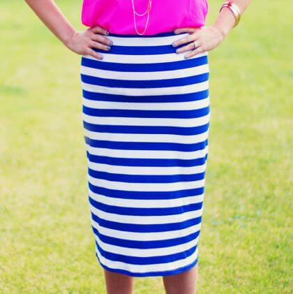 Easy Knit Pencil Skirt