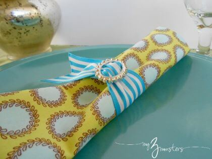 DIY Cloth Napkins and Napkin Rings