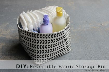 Reversible Fabric Storage Bins