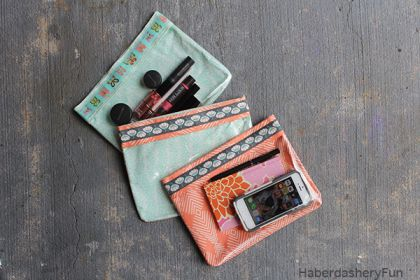 DIY Ribbon and Vinyl Pouches