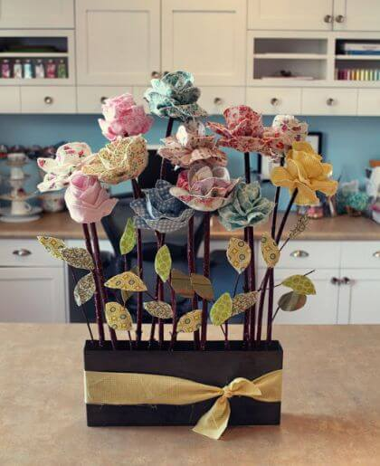 Long Stemmed Fabric Flowers