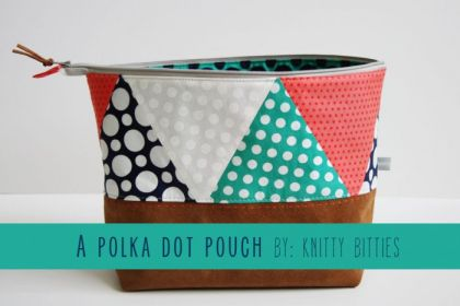 Polka Dot Leather Pouch